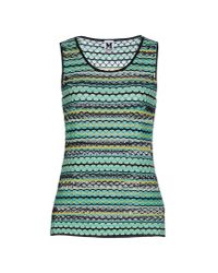 M Missoni | Green Top | Lyst