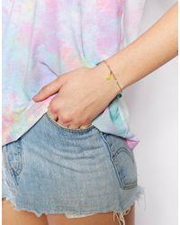 ASOS - Multicolor Fine Faux Pearl Tassel Bracelet - Lyst