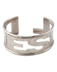 DIESEL | Metallic 'arter' Cuff for Men | Lyst