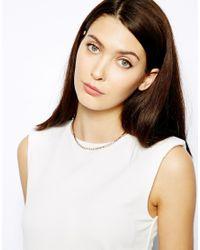 Karen Millen | Metallic Crystal Sprinkle Necklace | Lyst