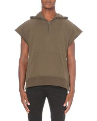 Fear Of God | Green Sleeveless Cotton Hoody - For Men for Men | Lyst