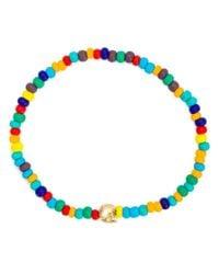 Luis Morais | Multicolor Skull Beaded Bracelet | Lyst