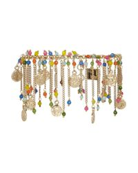 Rosantica | Blue Appeso Golddipped Multicolour Anklet | Lyst