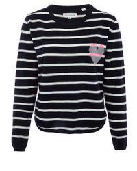 Chinti & Parker - Blue Stripe Heart Sweater - Lyst