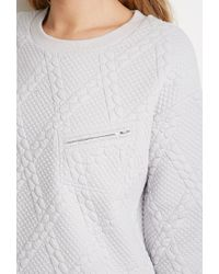 Forever 21 | Gray Diamond-patterned Pullover | Lyst