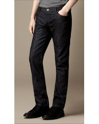 Burberry | Blue Steadman Resinated Slim Fit Jeans for Men | Lyst