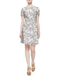 Tory Burch - Gray Summer Two-Tone Lace Dress - Lyst