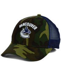 Reebok | Green Vancouver Canucks Camo Trucker Cap for Men | Lyst