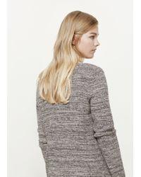 Violeta by Mango - Brown Metallic Cotton Cardigan - Lyst