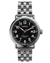 Shinola | Metallic 'the Runwell' Bracelet Watch | Lyst