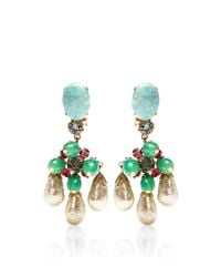 House of Lavande | Multicolor Schreiner Turquoise and Pearl Drop Earrings | Lyst