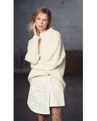 Tibi | White Cozy Alpaca Oversized Pullover | Lyst