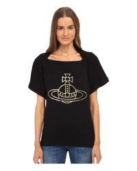 Vivienne Westwood Anglomania - Black Monarchy Tee - Lyst