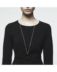 Maya Magal | Metallic Pearl Post Pendant Gold | Lyst