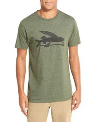 Patagonia - Green 'Flying Fish' Graphic T-Shirt for Men - Lyst