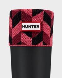 Hunter - Red Geometric Dazzle Boot Socks - Lyst
