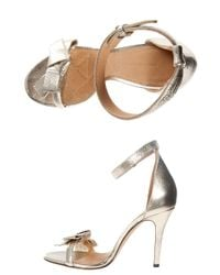 Isabel Marant - Metallic Play High Heel Bow Sandal - Lyst