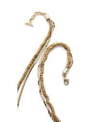Serefina | Metallic Dancing Feathers Necklace - Stripe | Lyst