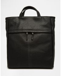 ASOS | Backpack Hybrid Tote In Black for Men | Lyst