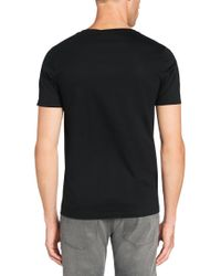 HUGO | Black Regular-fit Cotton T-shirt: 'dimension' for Men | Lyst