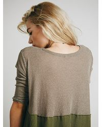 Free People | Green We The Free Half And Half Thermal | Lyst