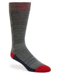Mr Gray | Gray Textile Slub Knit Colorblock Socks for Men | Lyst