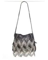 En Shalla - Black Beaded Cross Body Bag - Lyst