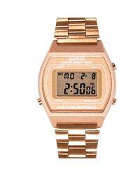 River Island - Pink Gold Tone Casio Bracelet Watch - Lyst