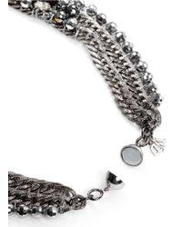 Assad Mounser - Metallic Swarovski Crystal Pendant Spike Collar Necklace - Lyst