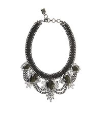 BCBGMAXAZRIA | Metallic Teardrop Stone Statement Necklace | Lyst