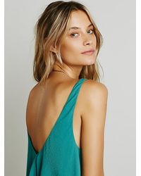 Free People - Green Double Up Cami - Lyst