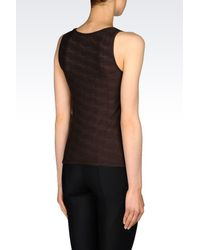 Armani | Brown Top In Jacquard Jersey | Lyst