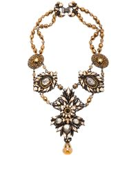 Erickson Beamon - Brown Golden Rule Necklace - Lyst