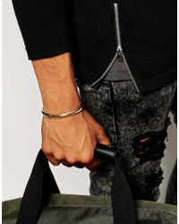 ASOS - Metallic Bangle With Screw Ends for Men - Lyst