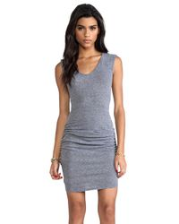 C&C California | Muscle Tee Dress in Gray | Lyst