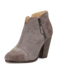 Rag & Bone - Gray Margot Suede Ankle Boots - Lyst