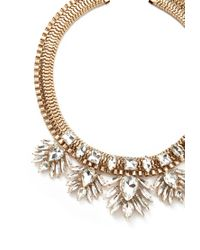Forever 21   Metallic Rhinestone Statement Necklace   Lyst