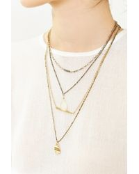 Urban Outfitters - Metallic Jessa Crystal Layering Necklace Set - Lyst