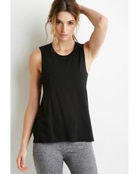 Forever 21 | Black Active Twisted Open-back Muscle Tee | Lyst