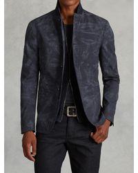 John Varvatos | Blue Wool Plaid Jacket for Men | Lyst