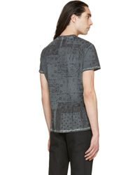 Belstaff - Gray Charcoal Bandana Print Bartley T_shirt for Men - Lyst
