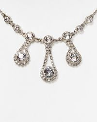 """Ted Baker - Metallic Starley Crystal Chain Drop Necklace, 16"""" - Lyst"""