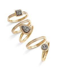 Marcia Moran | Metallic Drusy Rings | Lyst