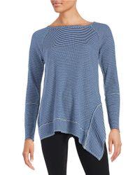 Kensie | Multicolor Asymmetrical Thermal Shirt | Lyst