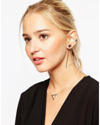 ASOS | Metallic Mismatch Abstract Swing Earrings | Lyst