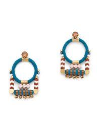 J.Crew | Multicolor Rope Cord Earrings | Lyst