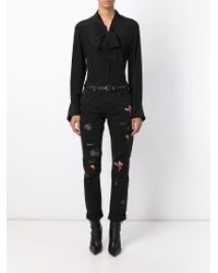 MSGM - Black Customised Jeans - Lyst