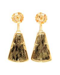 Kimberly Mcdonald | Green 18kt Yellow Apache Gold And Diamond Earrings | Lyst