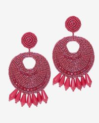 Kenneth Jay Lane - Red Bead Circle Earrings - Lyst