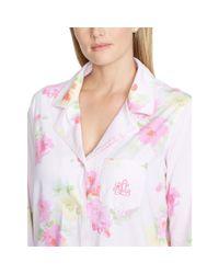 Ralph Lauren - Pink Cotton Capri Pajama Set - Lyst